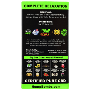 HEMP BOMBS ULTRA CONCENTRATED 300MG PURE CBD 1ML- EXOTIC WATERMELON