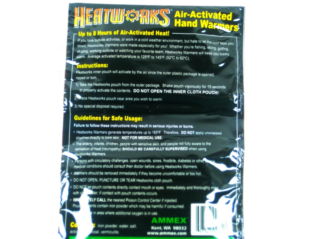 Hand Warmers Air-Activated 1 pack- Two Warmers