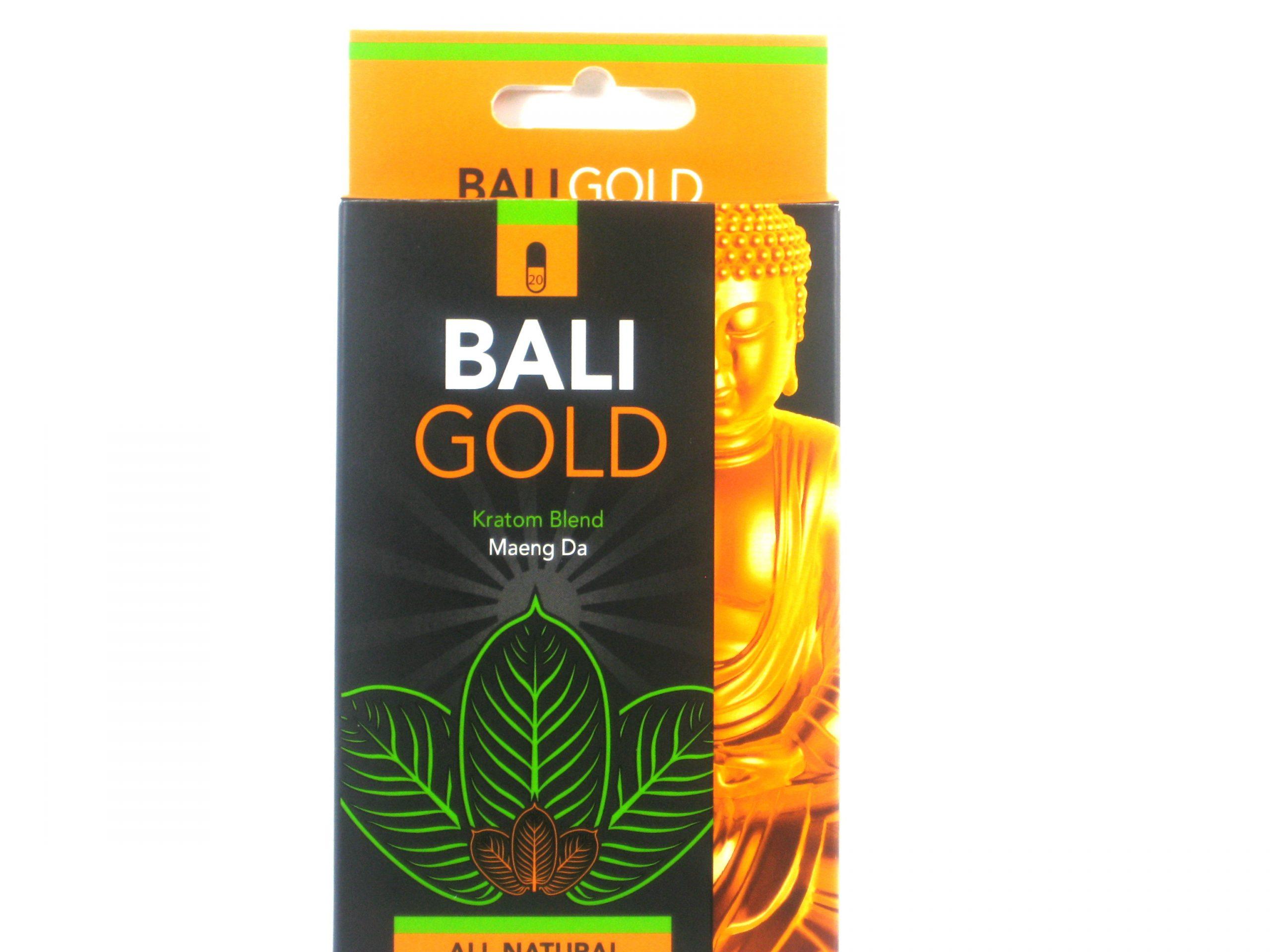 Bali Gold Maeng Da Kratom- 20 capsules