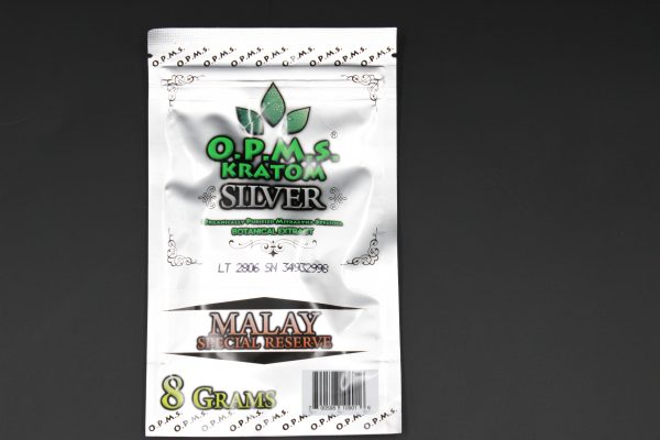 OPMs Kratom Silver Malay Special Reserve 8g-16caps