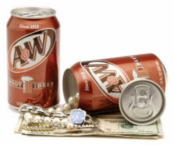 A & W Root Beer stash can safe 12oz