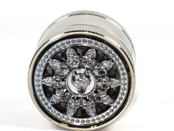 Metal Herb Grinder 3 part Chrome plated Spinner wheel