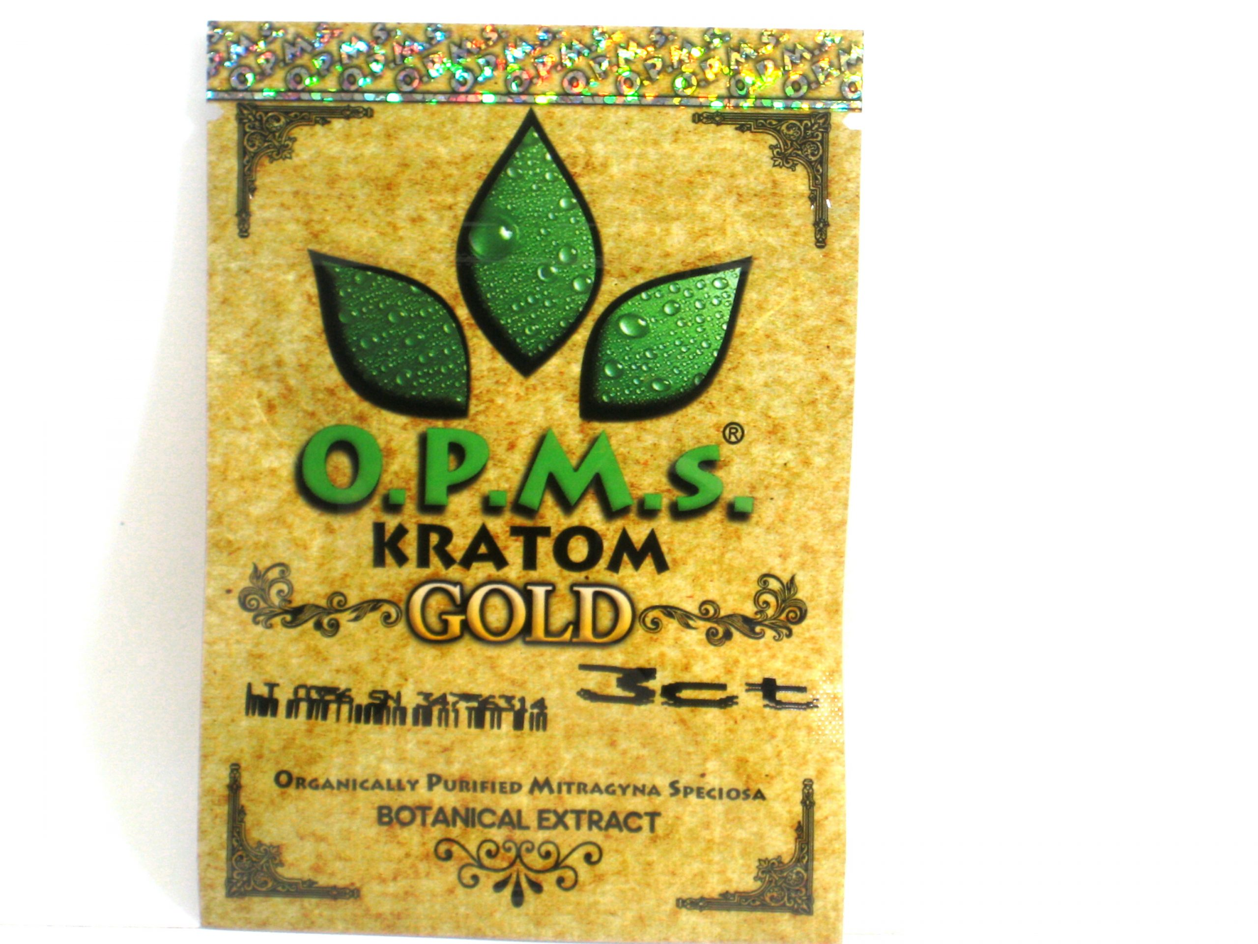 OPMs Kratom Gold All Natural Extract- 3ct