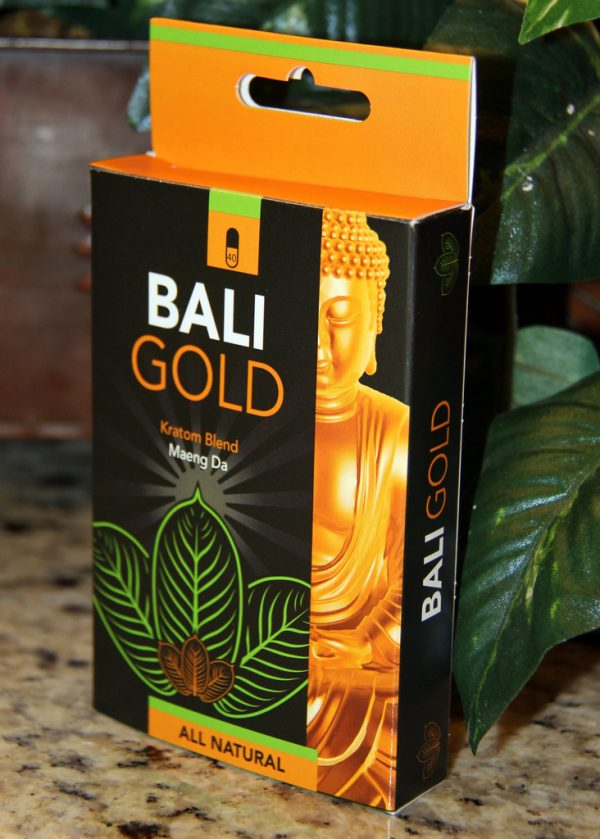 Bali Gold Maeng Da Kratom- 40 capsules